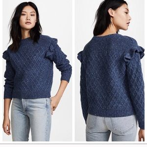 La Vie Rebecca Taylor Blue Betty Sweater